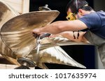 precision welder at work | Shutterstock . vector #1017635974