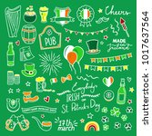 st. patrick's day hand drawn... | Shutterstock .eps vector #1017637564