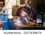 welder at work | Shutterstock . vector #1017638674