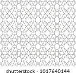seamless geometric ornamental... | Shutterstock .eps vector #1017640144