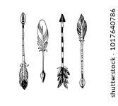 decorative tribal arrows... | Shutterstock . vector #1017640786