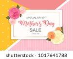 happy mother s day cute sale... | Shutterstock . vector #1017641788