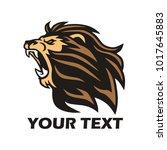 lion roaring logo design... | Shutterstock .eps vector #1017645883