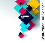 abstract background with 3d... | Shutterstock .eps vector #1017646720