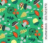 ornate natural pattern. vector... | Shutterstock .eps vector #1017651970