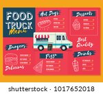 food truck menu template. fast... | Shutterstock .eps vector #1017652018