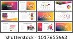 business presentation templates.... | Shutterstock .eps vector #1017655663