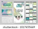 website template  one page... | Shutterstock .eps vector #1017655669