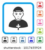 happy priest vector icon. human ... | Shutterstock .eps vector #1017655924