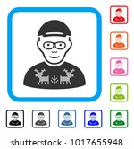 happy nerd guy vector... | Shutterstock .eps vector #1017655948