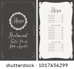 vector menu for restaurant with ... | Shutterstock .eps vector #1017656299