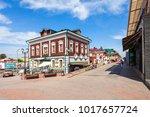 130 kvartal quarter  irkutsk... | Shutterstock . vector #1017657724