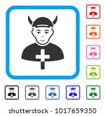 enjoy priest devil vector... | Shutterstock .eps vector #1017659350