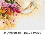 watercolor style and abstract...   Shutterstock . vector #1017659398