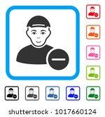 smiling delete user vector icon.... | Shutterstock .eps vector #1017660124