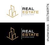 modern real estate logo... | Shutterstock .eps vector #1017660976