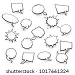 set of blank template in pop... | Shutterstock .eps vector #1017661324