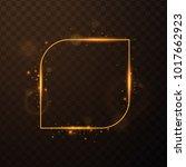 golden frame with lights... | Shutterstock .eps vector #1017662923