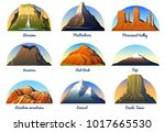 mountains peaks  landscape... | Shutterstock .eps vector #1017665530