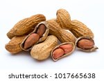 dried peanuts on the white...   Shutterstock . vector #1017665638