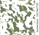 camouflage seamless pattern.... | Shutterstock .eps vector #1017667720
