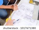 multiethnic diverse team of... | Shutterstock . vector #1017671380