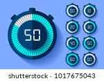 stopwatch icons set in flat... | Shutterstock .eps vector #1017675043