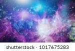 galaxy in space  beauty of... | Shutterstock . vector #1017675283