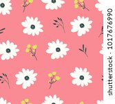 hand drawn flower background... | Shutterstock . vector #1017676990