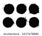 grunge circles for your design... | Shutterstock .eps vector #1017678880
