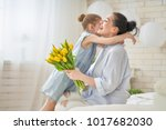 happy mother's day  child... | Shutterstock . vector #1017682030