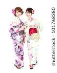 beautiful kimono women.... | Shutterstock . vector #101768380