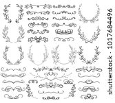 black hand drawn decorative... | Shutterstock .eps vector #1017684496