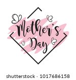 mothers day calligraphy... | Shutterstock .eps vector #1017686158