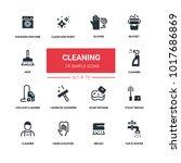 cleaning   line design... | Shutterstock .eps vector #1017686869