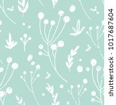 hand drawn flower background... | Shutterstock . vector #1017687604