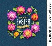 easter greeting card   easter... | Shutterstock .eps vector #1017688183