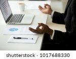 black businessman in suit... | Shutterstock . vector #1017688330