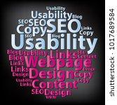 text cloud. seo wordcloud.... | Shutterstock .eps vector #1017689584
