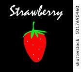 strawberry icon vector... | Shutterstock .eps vector #1017690460