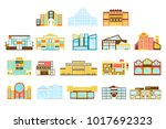 shopping mall  department store ... | Shutterstock .eps vector #1017692323