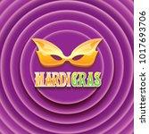 vector new orleans mardi gras... | Shutterstock .eps vector #1017693706
