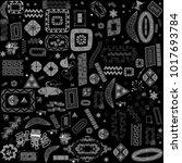 ethnic handmade ornament for... | Shutterstock .eps vector #1017693784