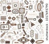 ethnic handmade ornament for... | Shutterstock .eps vector #1017693790