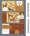 voucher template for the dog... | Shutterstock .eps vector #1017694030