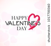 happy valentines day hand... | Shutterstock .eps vector #1017700360