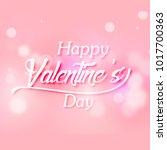 happy valentines day hand... | Shutterstock .eps vector #1017700363