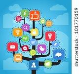 modern social media abstract... | Shutterstock .eps vector #101770159