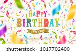 happy birthday greeting with... | Shutterstock .eps vector #1017702400