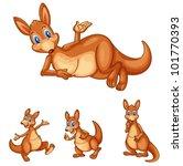 illustraiton of mixed kangaroo... | Shutterstock .eps vector #101770393